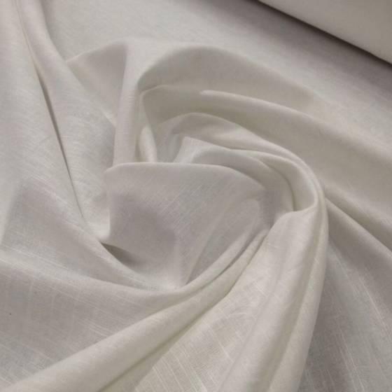 Tessuto moderno in misto lino - bianco