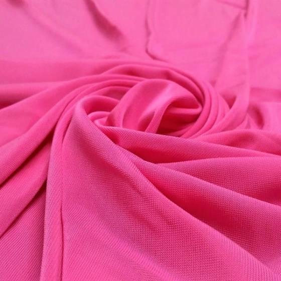 Tessuto in viscosa elastica per abbigliamento - fucsia