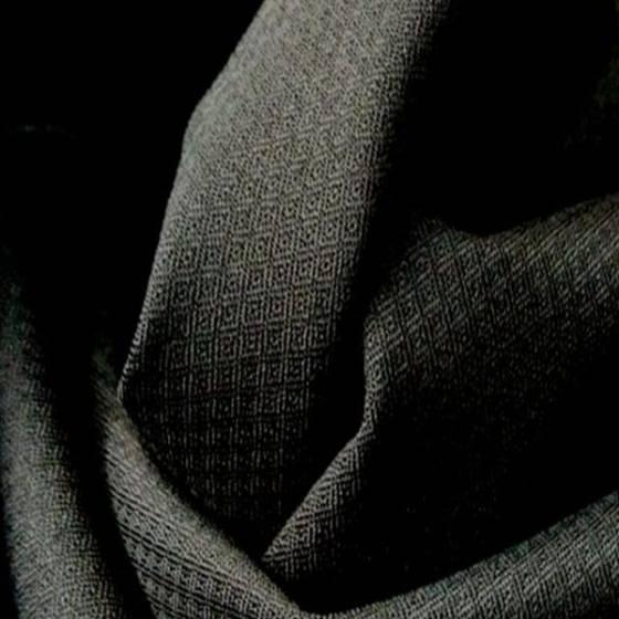 Tessuto per abiti in fresco lana  - nero