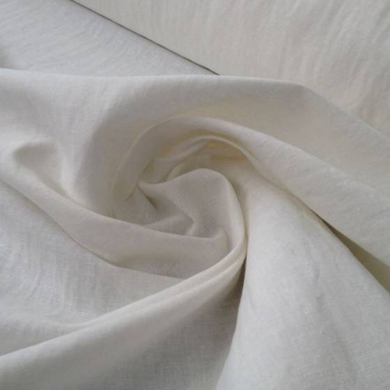 Tessuto fresco in misto lino - bianco