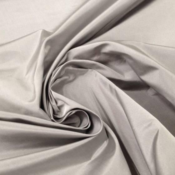 Tessuto per abiti in seta taffetà - grigio