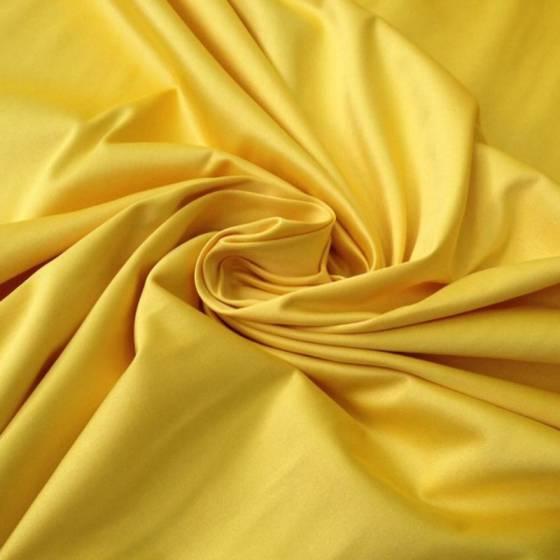 Tessuto in cotone semilucido elegante - giallo