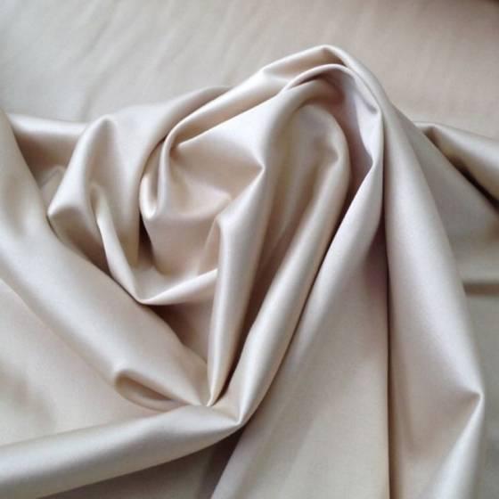 Tessuto in cotone semilucido elegante - tortora