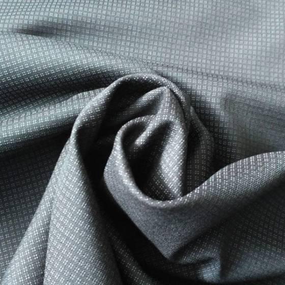 Fresco lana per abbigliamento minuscoli quadretti - nero