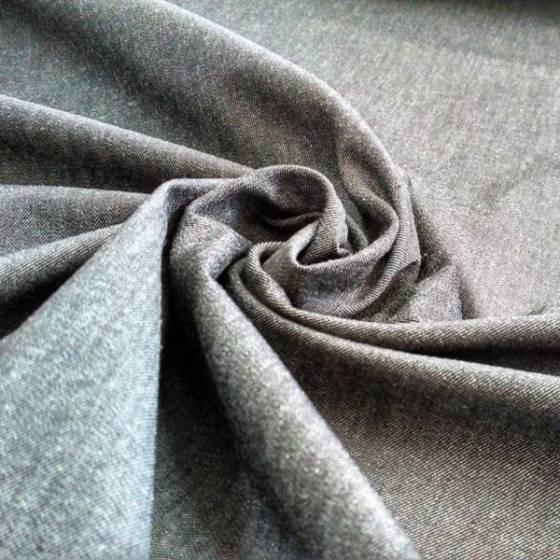 Tessuto jeans leggermente elasticizzato per abbigliamento - grigio
