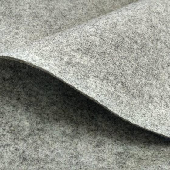 Tessuto in feltro mélange per handmade - grigio