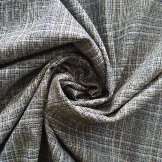 Tessuto per abiti bielastico in stile scozzese - grigio