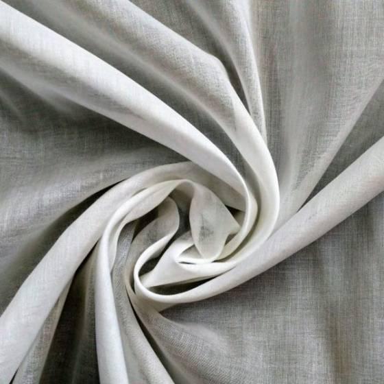 Tessuto in mussola di cotone leggera - bianco