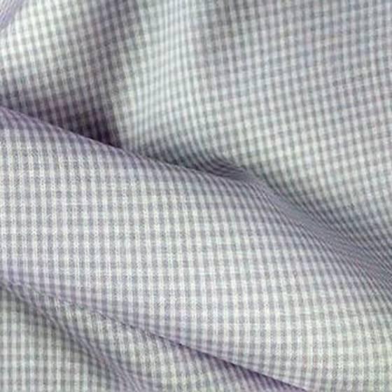 Tessuto in cotone motivo a piccoli quadretti - lavanda