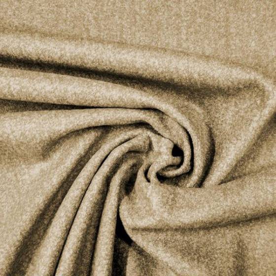 Tessuto per abiti in pura lana mélange - nocciola