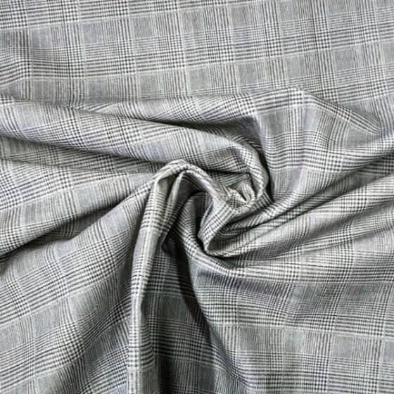 Tessuto per abiti classico stile scozzese - grigio