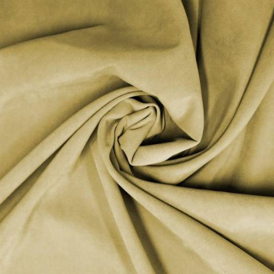 Tessuto stile vintage ad effetto scamosciato - senape