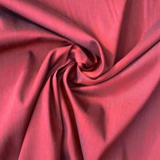 Tessuto per abiti misto cotone melangiato - bordeux