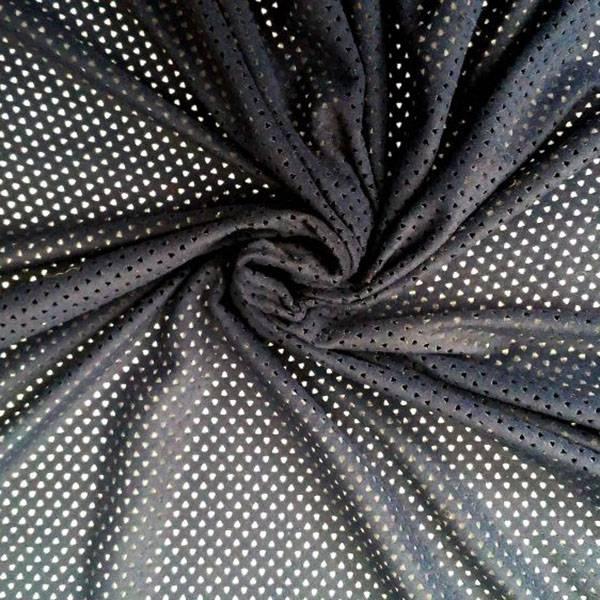 Tessuto traforato effetto alcantara - nero
