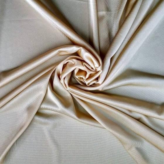 Tessuto bielastico per abiti leggeri - avorio