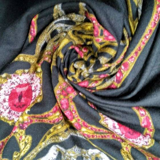 Tessuto elegante da sera  fantasia a gioielli e intrecci - sfondo nero