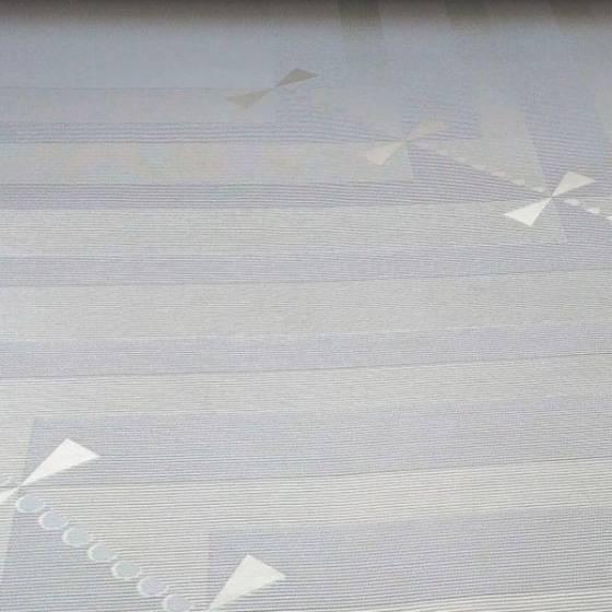Tessuto in misto cotone motivo geometrico stile vintage - bianco ottico