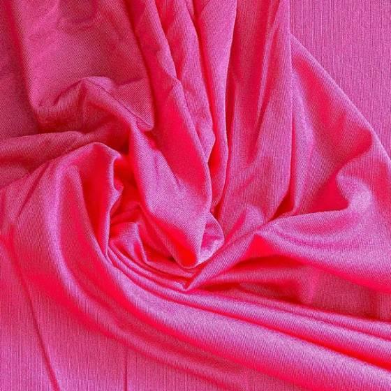 Tessuto per abiti in maglina elasticizzata - fucsia