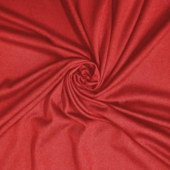 Tessuto per abiti in cotone maglina - rosso