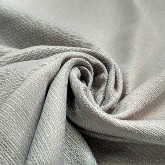 Tessuto per arredo con trama elegante in rilievo - argento