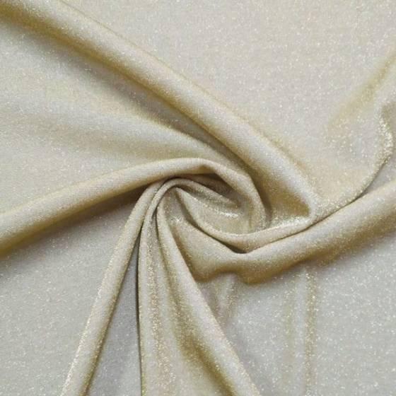 Tessuto in maglina elasticizzata brillante - oro