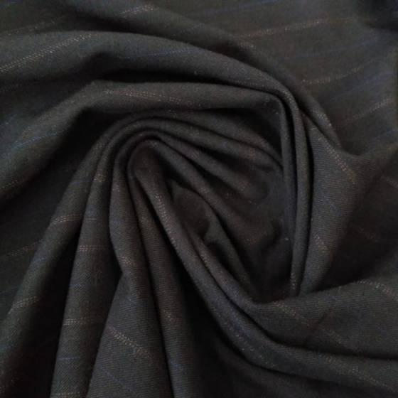 Tessuto in maglina motivo a righe marroni - nero