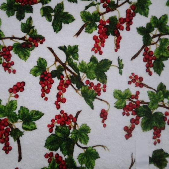 Tessuto in spugna di cotone Bottaro fantasia frutta