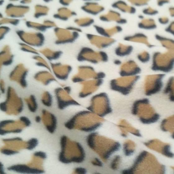 Tessuto pile animalier fantasia leopardata