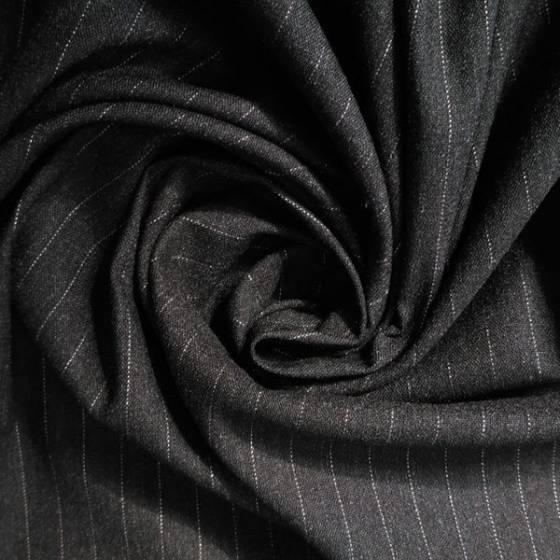 Tessuto in cotone elasticizzato motivo a righe sottili