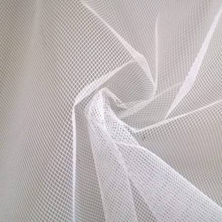 Tessuto tulle rigido - bianco