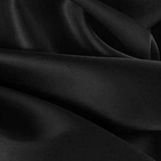 Tessuto raso di seta lucido - nero