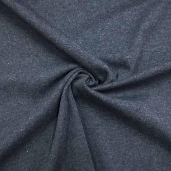 Tessuto in maglia elasticizzata punto milano - grigio scuro