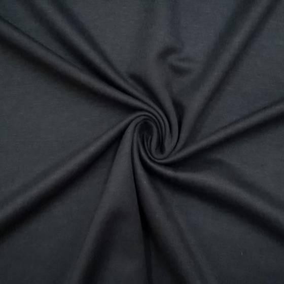 Tessuto in maglia elasticizzata punto milano - nero