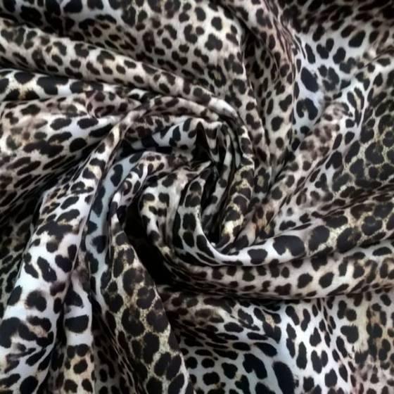 Tessuto in neoprene double face a fantasia animalier e damascato