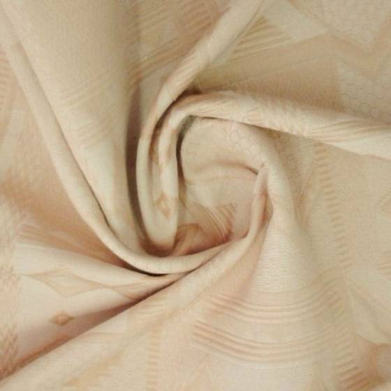 Tessuto per arredo motivo geometrico classico - beige