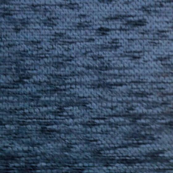 Tessuto per rivestimento in misto cotone cinigliato - blu