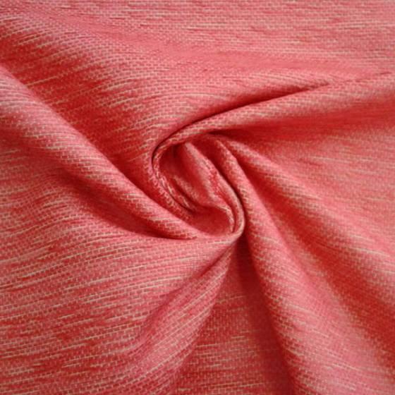 Tessuto per rivestimento in misto cotone cinigliato - rosa