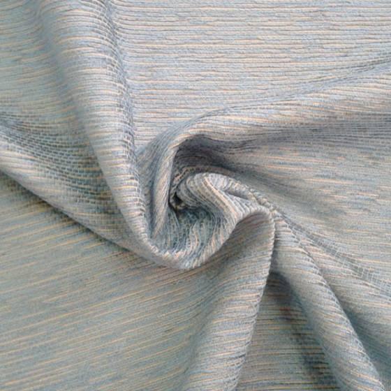 Tessuto per rivestimento in misto cotone cinigliato - azzurro e beige
