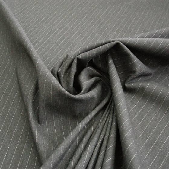 Tessuto classico in misto cotone motivo a righe - nero e bianco