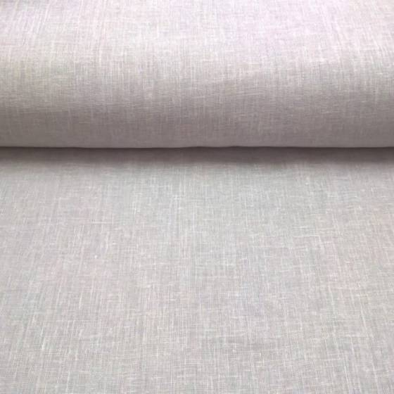 Tessuto per tendaggi misto lino -grigio/panna