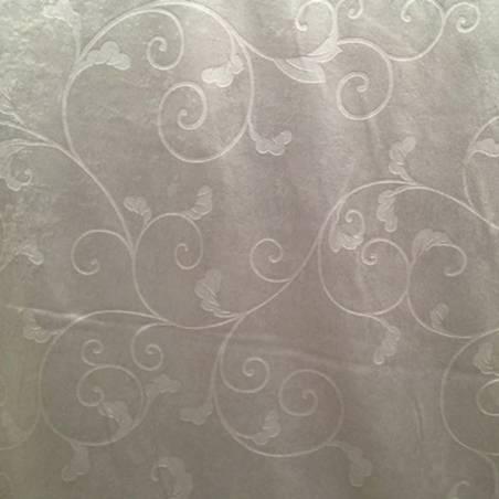 Tessuto damascato per tende e arredo - grigio chiaro