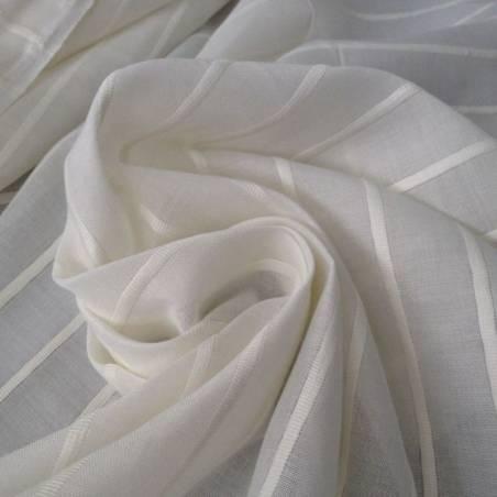 Tessuto per tendaggi bianco motivo a righe