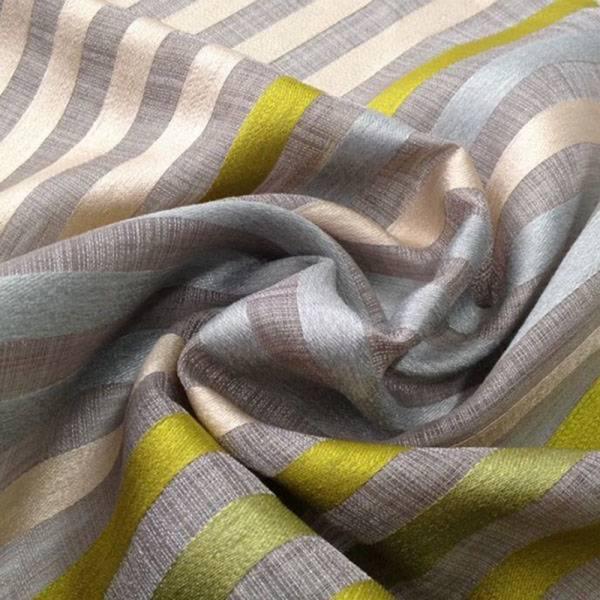 Tessuto tendaggio Bristol motivo a righe verticali colorate - sfondo grigio/tortora 2