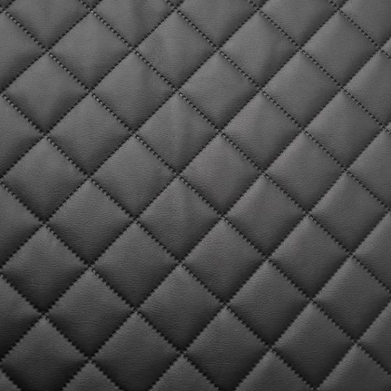 Tessuto trapuntato per rivestimenti e tappezzeria ecopelle - bianco/nero
