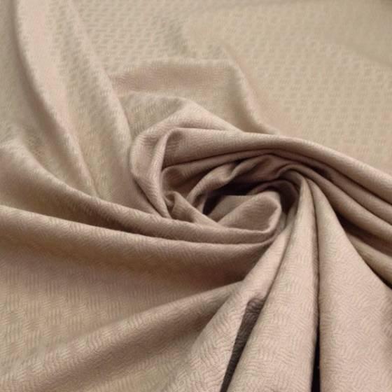 Tessuto da tappezzeria effetto intrecciato tono su tono - beige