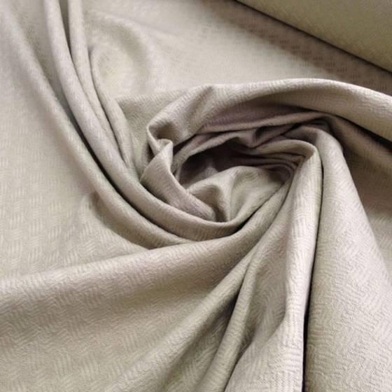 Tessuto da tappezzeria effetto intrecciato tono su tono - tortora