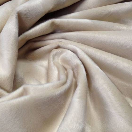 Tessuto per arredo in pelliccetta sintetica ad effetto melange - oro