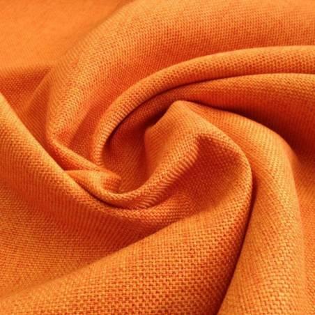 Tessuto per arredo e rivestimento misto cotone resistente -arancione