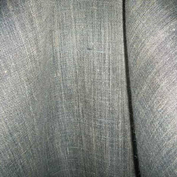 Tendaggio in misto lino ad intreccio  raffinato - bianco e blu