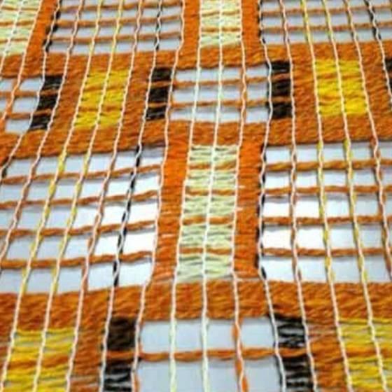 Tendaggio stile vintage chic - arancione, giallo e marrone